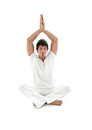 Man doing yoga Royalty Free Stock Photo