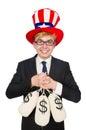 Man with dollar sacks