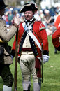 Man Dressed as British Redcoat Stock Image
