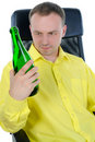 Man drinking alcohol. Stock Photography