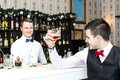 Man drinking alcohol at the bar Royalty Free Stock Photo