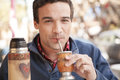 Man drinking Mate Royalty Free Stock Photo