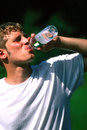 Man Drinking Water Royalty Free Stock Photo