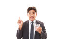 Man drinking water isolated on white background Royalty Free Stock Images