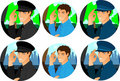 Man driver cartoon icon set Royalty Free Stock Photos