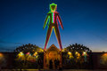 The Man at Dusk during Burning Man 2015 Royalty Free Stock Photo