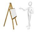 Man with easel. Stock Image