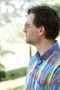 Man enjoying outdoors, profile Royalty Free Stock Photo