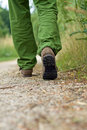 Man exercise walking in park Royalty Free Stock Image