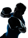 Man exercising boxing boxer posture Stock Image