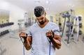 Man exercising in gym Royalty Free Stock Photo