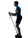 Man exercising gymstick workout fitness posture Royalty Free Stock Photography