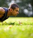 Man exercising outdoors Royalty Free Stock Images