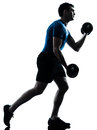 Man exercising weight training workout fitness Royalty Free Stock Photo