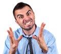 Man expressing frustration Royalty Free Stock Photo