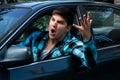 Man Expressing Road Rage Royalty Free Stock Photo