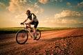 Man extreme biking Royalty Free Stock Photo