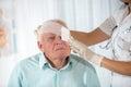 Man with eye bandage Royalty Free Stock Photo