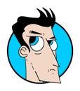 Man face illustration creative design of Stock Image