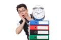 Man failing to meet his deadlines Stock Image