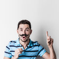 Man with fake mustache Royalty Free Stock Photo