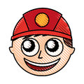 Man firefighter avatar character icon