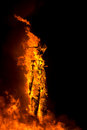 The Man on Flames at Burning Man 2015 Royalty Free Stock Photo