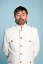 Man in form of a naval officer Royalty Free Stock Photo