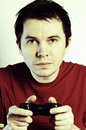 Man with game pad. Stock Photography