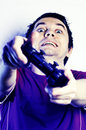 Man with game pad. Stock Image