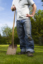 Man in garden Stock Photo
