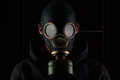 Man with gas mask. Royalty Free Stock Photo