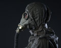 The man in a gas mask Royalty Free Stock Photo