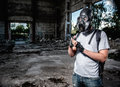 Man in gas mask Royalty Free Stock Photo