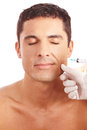 Man getting wrinkle treatment Stock Photo