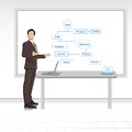 Man giving Business Presentation Stock Images