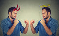 Man good fighting evil Royalty Free Stock Photo