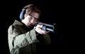 Man gun Royalty Free Stock Photo