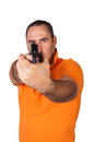 Man with a gun Stock Images