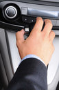 Man with Hand on Gear Shifter Royalty Free Stock Photo