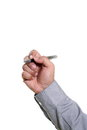 Man hand holding a pen Royalty Free Stock Photo