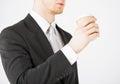 Man hand holding take away coffee