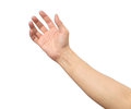 Man hand isolated. Hold, grab or catch Royalty Free Stock Photo