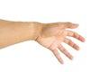 Man Hand Symbol Isolated