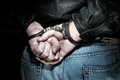 Man in handcuffs Stock Images