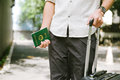 Man hands holding Vietnamese Passport. Ready for traveling Royalty Free Stock Photo