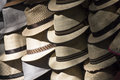 Man hats in the flea market at puerto vallarta Royalty Free Stock Images