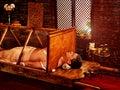 Man having Ayurvedic sauna treatment. Indian detoxification of male body. Royalty Free Stock Photo