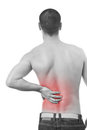 Man having a back pain Royalty Free Stock Photo