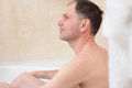Man having a bath Royalty Free Stock Photography